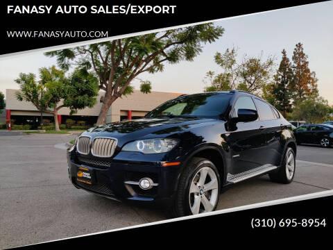 2008 BMW X6 for sale at FANASY AUTO SALES/EXPORT in Yorba Linda CA