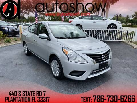 2019 Nissan Versa for sale at AUTOSHOW SALES & SERVICE in Plantation FL