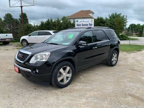 2012 GMC Acadia for sale at GREENFIELD AUTO SALES in Greenfield IA