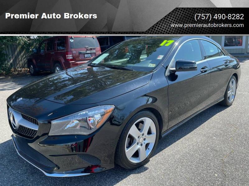 2017 Mercedes-Benz CLA for sale at Premier Auto Brokers in Virginia Beach VA
