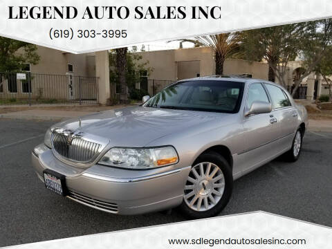 2004 Lincoln Town Car for sale at Legend Auto Sales Inc in Lemon Grove CA