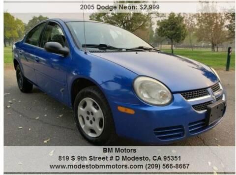 2005 Dodge Neon for sale at BM Motors in Modesto CA