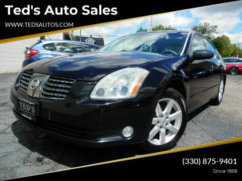 2004 Nissan Maxima for sale at Ted's Auto Sales in Louisville OH