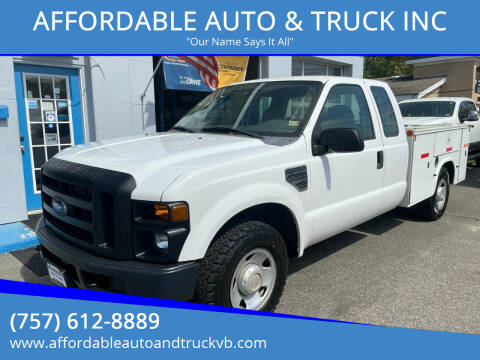 2008 Ford F-250 Super Duty for sale at AFFORDABLE AUTO & TRUCK INC in Virginia Beach VA