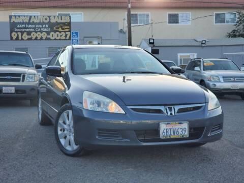 2007 Honda Accord for sale at AMW Auto Sales in Sacramento CA