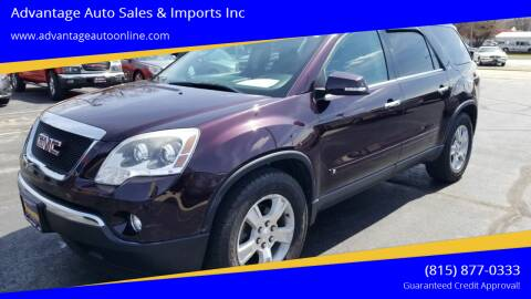 2009 GMC Acadia for sale at Advantage Auto Sales & Imports Inc in Loves Park IL