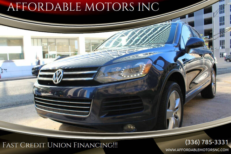 2011 Volkswagen Touareg for sale at AFFORDABLE MOTORS INC in Winston Salem NC