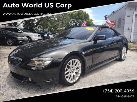 2010 BMW 6 Series for sale at Auto World US Corp in Plantation FL