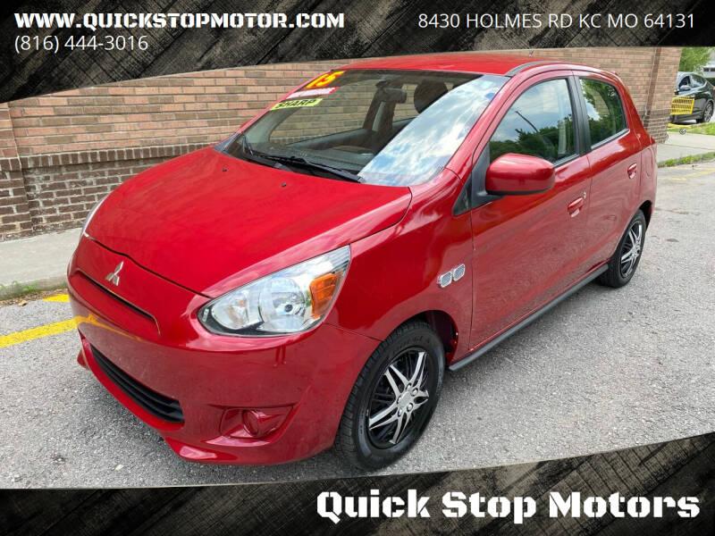 2015 Mitsubishi Mirage for sale at Quick Stop Motors in Kansas City MO