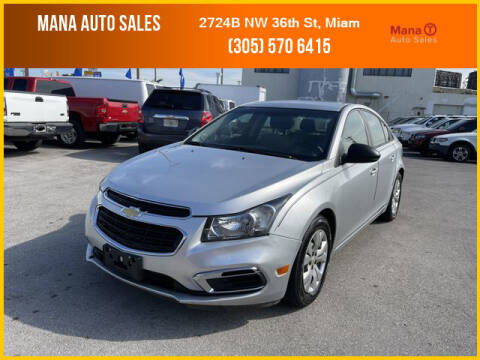 2016 Chevrolet Cruze Limited for sale at MANA AUTO SALES in Miami FL