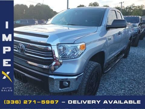 2016 Toyota Tundra for sale at Impex Auto Sales in Greensboro NC