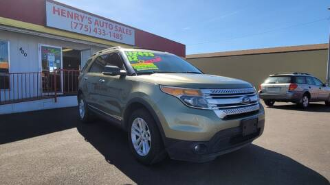 2012 Ford Explorer for sale at Henry's Autosales, LLC in Reno NV