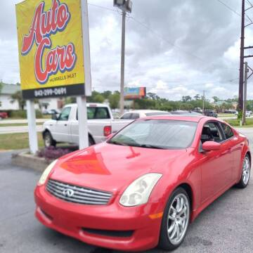 2006 Infiniti G35 for sale at Auto Cars in Murrells Inlet SC