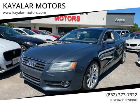 2011 Audi A5 for sale at KAYALAR MOTORS in Houston TX