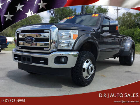 2016 Ford F-350 Super Duty for sale at D & J AUTO SALES in Joplin MO