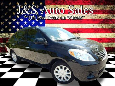 2014 Nissan Versa for sale at J & S Auto Sales in Clarksville TN