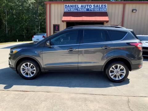 2018 Ford Escape for sale at Daniel Used Auto Sales in Dallas GA