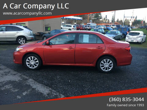 2012 Toyota Corolla for sale at A Car Company LLC in Washougal WA