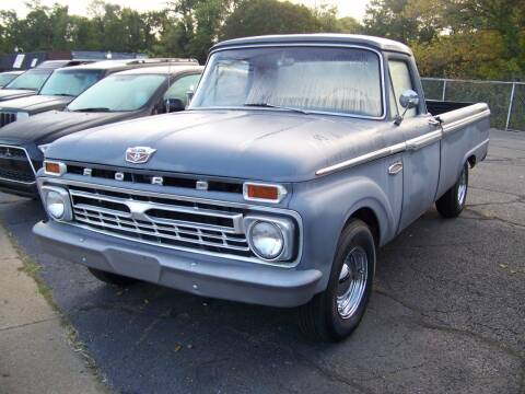 1966 Ford F-100 for sale at Collector Car Co in Zanesville OH