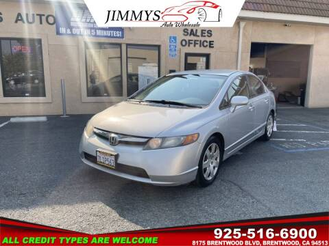 2008 Honda Civic for sale at JIMMY'S AUTO WHOLESALE in Brentwood CA
