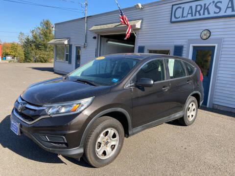 2015 Honda CR-V for sale at CLARKS AUTO SALES INC in Houlton ME