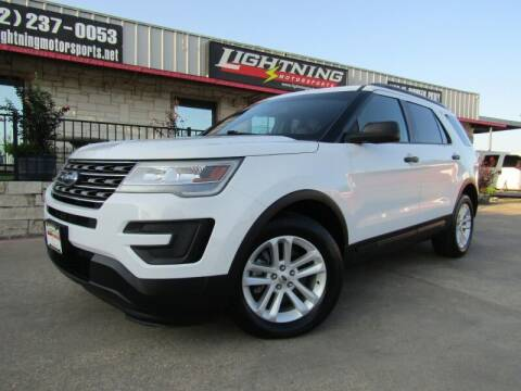 2016 Ford Explorer for sale at Lightning Motorsports in Grand Prairie TX