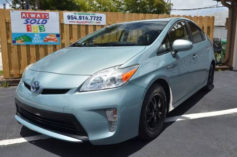 2014 Toyota Prius for sale at ALWAYSSOLD123 INC in Fort Lauderdale FL