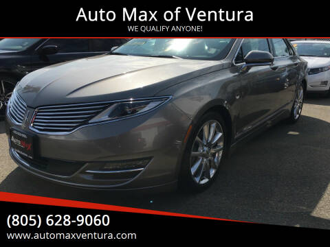 2016 Lincoln MKZ Hybrid for sale at Auto Max of Ventura in Ventura CA
