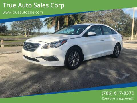 2016 Hyundai Sonata for sale at True Auto Sales Corp in Miami FL