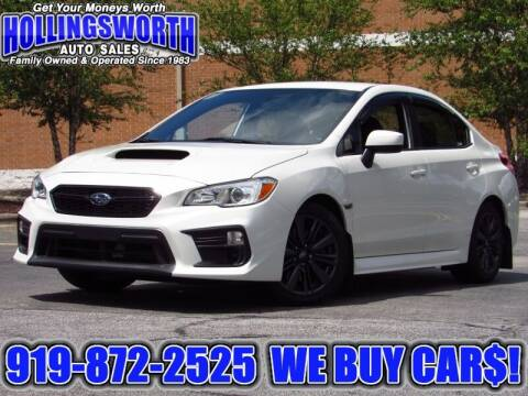 2018 Subaru WRX for sale at Hollingsworth Auto Sales in Raleigh NC