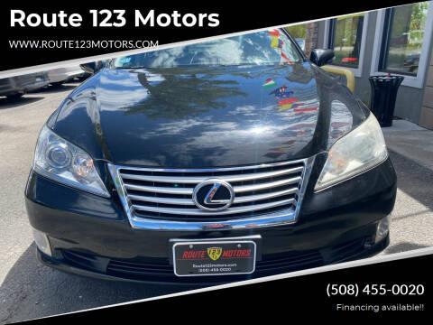 2010 Lexus ES 350 for sale at Route 123 Motors in Norton MA