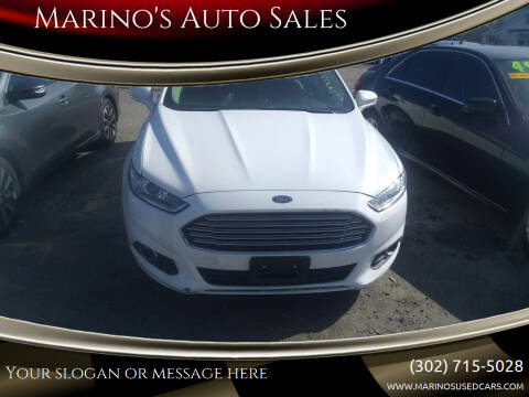 2016 Ford Fusion Energi for sale at Marino's Auto Sales in Laurel DE