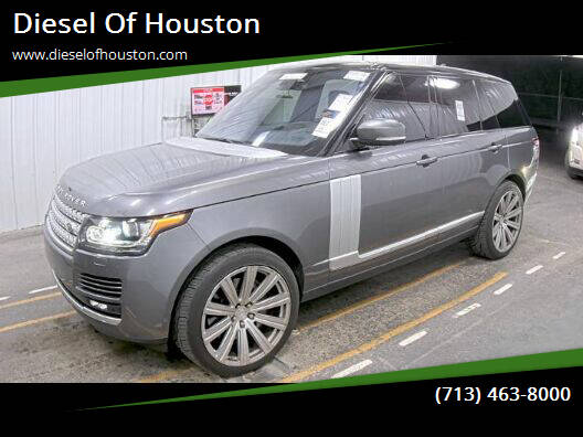 2016 Land Rover Range Rover for sale at Diesel Of Houston in Houston TX