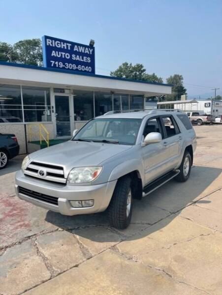 2004 Toyota 4Runner for sale at Right Away Auto Sales in Colorado Springs CO