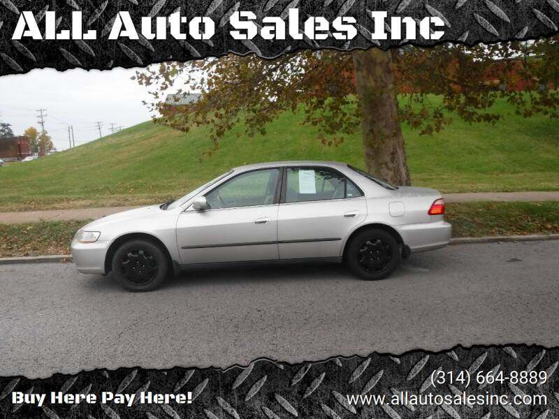 1998 Honda Accord for sale at ALL Auto Sales Inc in Saint Louis MO