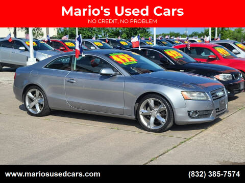 2010 Audi A5 for sale at Mario's Used Cars in Houston TX