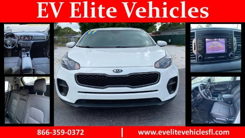 2017 Kia Sportage for sale at EV ELITE VEHICLES in Saint Petersburg FL
