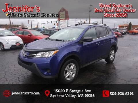 2015 Toyota RAV4 for sale at Jennifer's Auto Sales in Spokane Valley WA