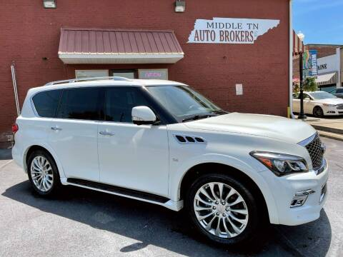 2016 Infiniti QX80 for sale at Middle Tennessee Auto Brokers LLC in Gallatin TN