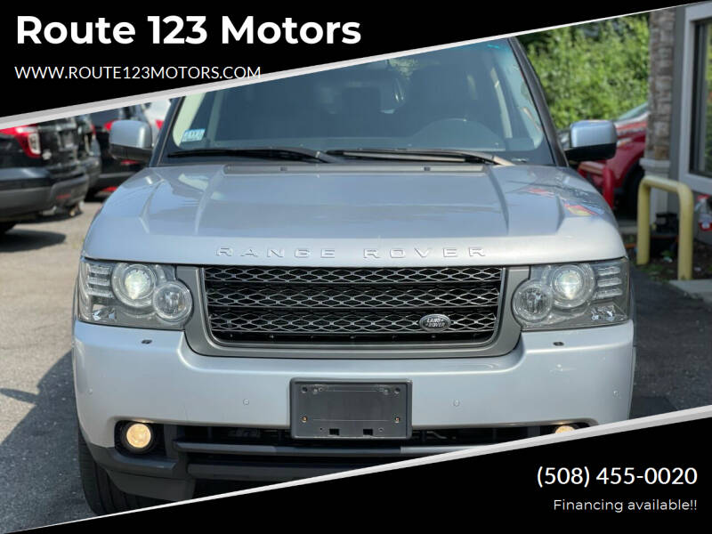 2011 Land Rover Range Rover for sale at Route 123 Motors in Norton MA