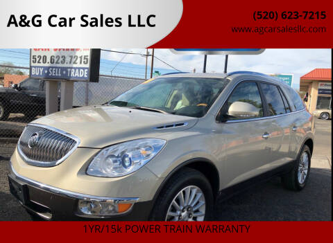 2010 Buick Enclave for sale at A&G Car Sales  LLC in Tucson AZ