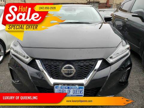 2020 Nissan Maxima for sale at LUXURY OF QUEENS,INC in Long Island City NY