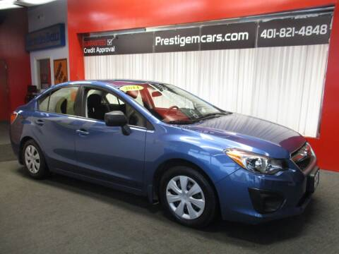 2014 Subaru Impreza for sale at Prestige Motorcars in Warwick RI