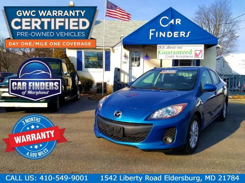 2012 Mazda MAZDA3 for sale at CAR FINDERS OF MARYLAND LLC - Certified Cars in Eldersburg MD