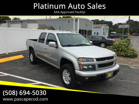 2010 Chevrolet Colorado for sale at Platinum Auto Sales in South Yarmouth MA