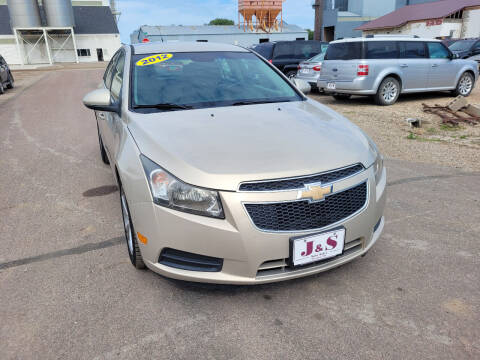 2012 Chevrolet Cruze for sale at J & S Auto Sales in Thompson ND