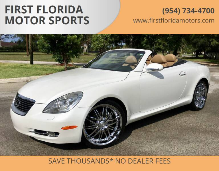 2007 Lexus SC 430 for sale at FIRST FLORIDA MOTOR SPORTS in Pompano Beach FL