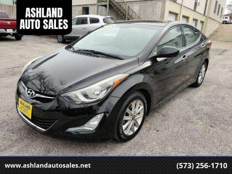 2014 Hyundai Elantra for sale at ASHLAND AUTO SALES in Columbia MO