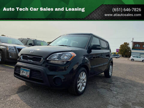 2012 Kia Soul for sale at Auto Tech Car Sales and Leasing in Saint Paul MN