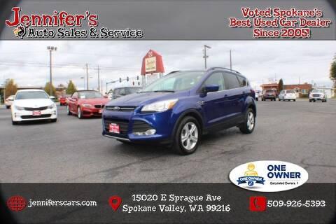 2016 Ford Escape for sale at Jennifer's Auto Sales in Spokane Valley WA